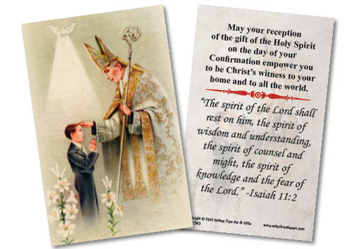 Gifts For Young Men: Young Man's Confirmation Holy Card