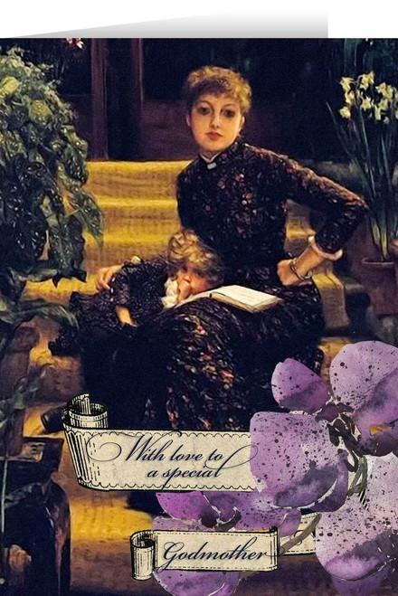 Violets Godmother Greeting Card