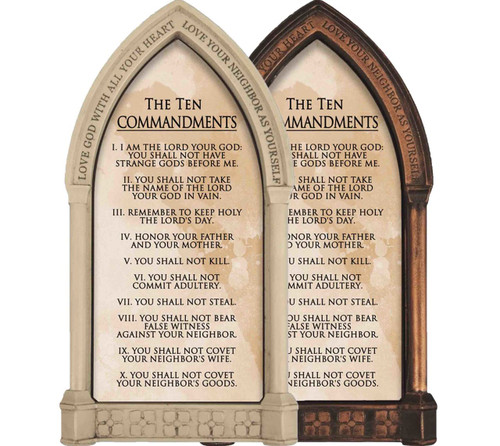 10 Commandments Graphic Wall Plaque Catholic To The Max