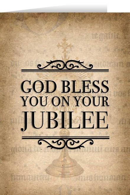 Monstrance Jubilee Greeting Card