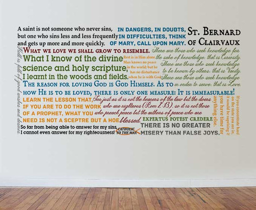 Saint Bernard of Clairvaux Quote Wall Decal