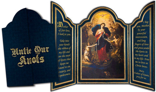 Mary Undoer of Knots Tri-fold Triptych Cards