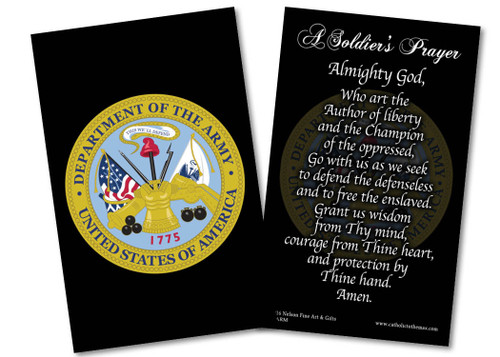 Army Prayer Card