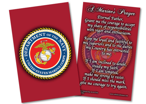 Marine Corps Prayer Card