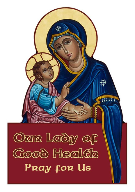 Our Lady of Good Health Visor Clip