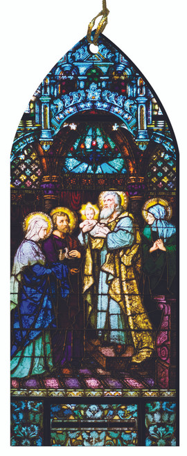 The Presentation of the Child Jesus Stained Glass Wood Ornament