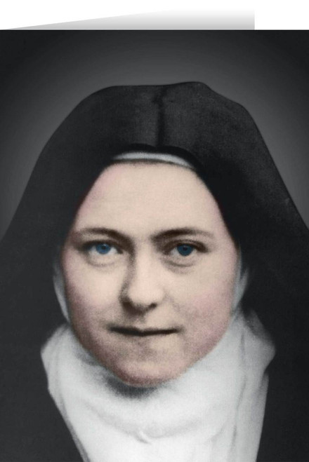 St. Therese of Lisieux Colorized Greeting Card