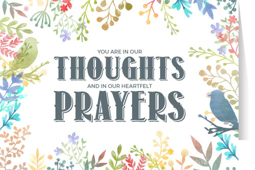 You Are in Our Thoughts (Colorful) Greeting Card
