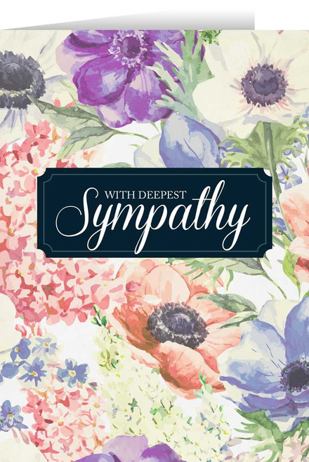 Sympathy greeting cards with deepest sympathy flowers greeting card m4hsunfo