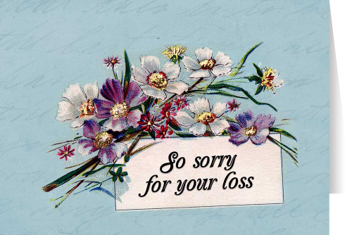 Sympathy greeting cards so sorry for your loss greeting card m4hsunfo