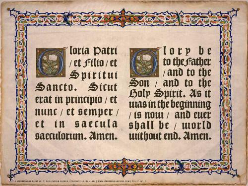 Latin-English Glory Be Poster