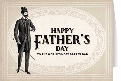 Dapper Dad Father's Day Greeting Card