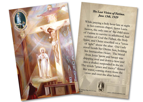 Last Vision of Fatima 100 Year Anniversary Holy Card