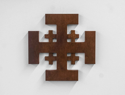 Jerusalem Wood Cross - Cherry