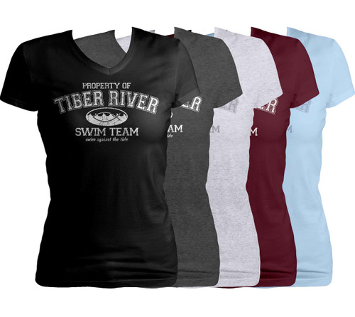 Tiber River Swim Team Women's Cut V-Neck T-Shirt