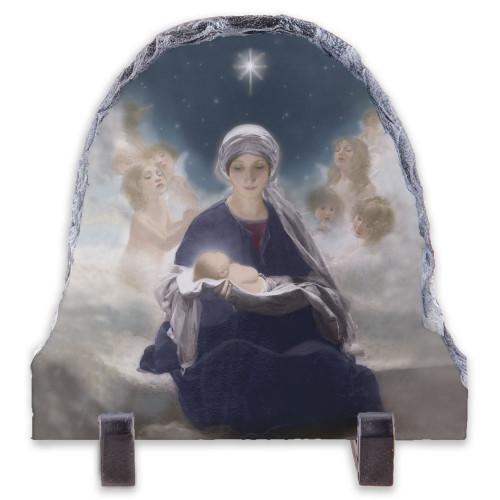 Star of Bethlehem Arched Slate Tile