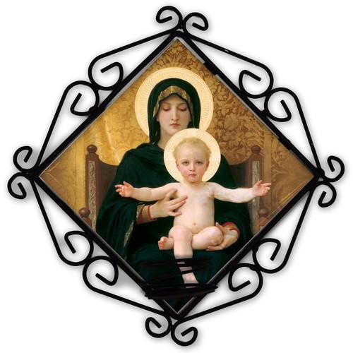 Virgin and Child Votive Candle Holder