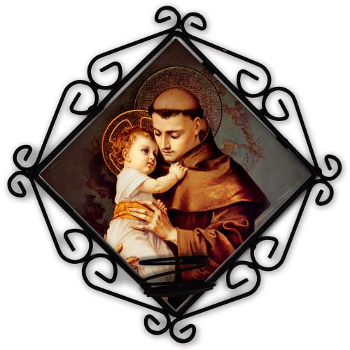 St. Anthony with Jesus Votive Candle Holder