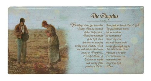 The Angelus by Millet Prayer Hi-Gloss Mini Tile