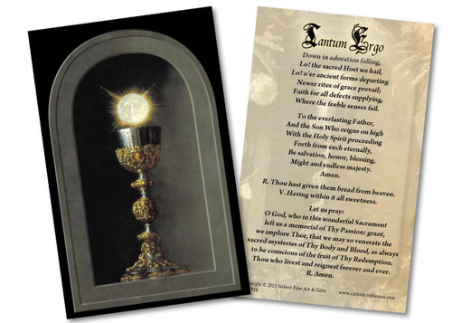 Eucharist Detail Holy Card