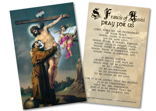 St. Francis with Christ Holy Card