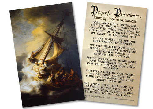 Storm on the Sea of Galilee Holy Card