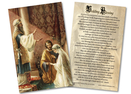 Wedding of Joseph & Mary Wedding Blessing Holy Card