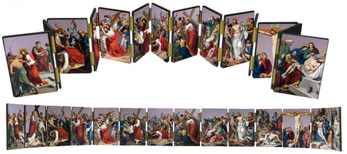 St. Peter's Stations of the Cross Hinged Mantle Set