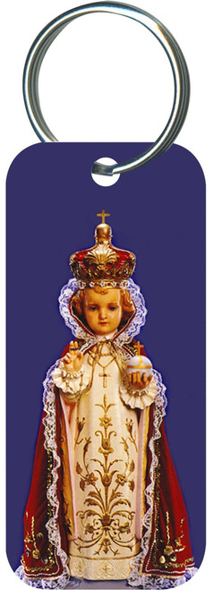 Infant of Prague Rectangle Keychain