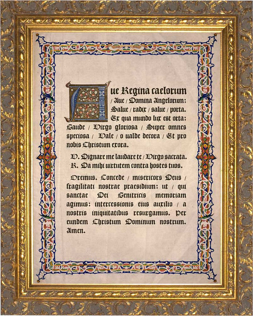 Latin Angelus Gold Framed Art