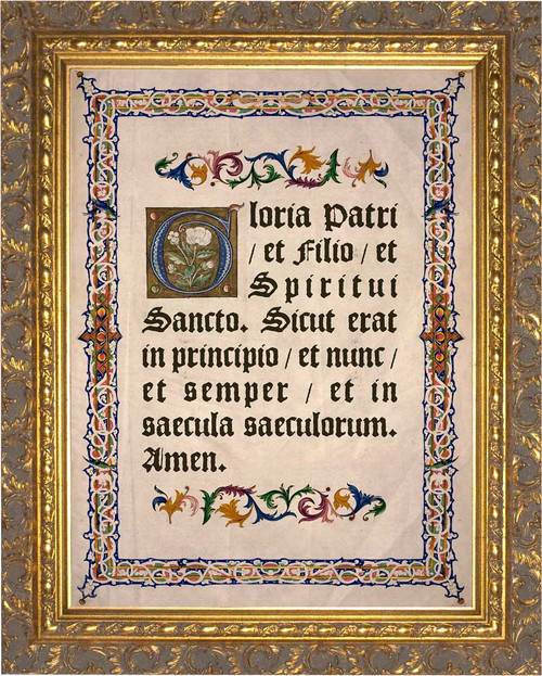 Latin Glory Be Gold Framed Art