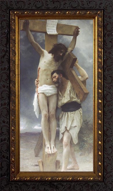Crucifixion Of Our Lord Ornate Dark Framed Art
