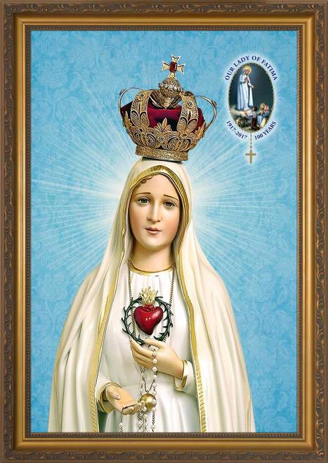 Fatima 100 Year Anniversary - Standard Gold Framed Art