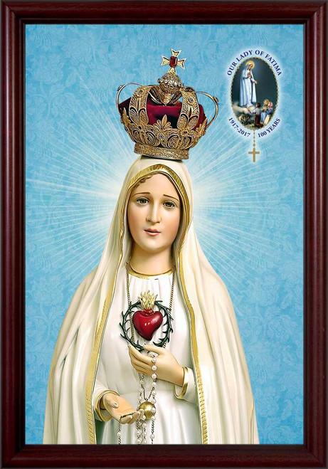 Fatima 100 Year Anniversary - Cherry Framed Art