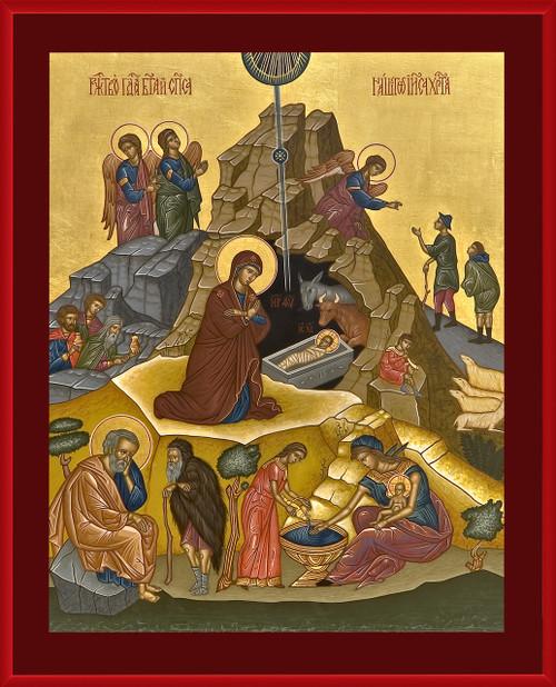 Nativity of Jesus Christ Icon Wall Plaque
