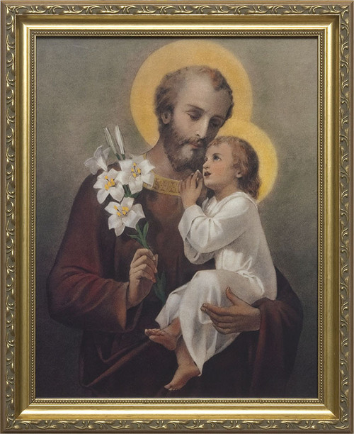 Church-Sized St. Joseph (Younger) Framed Canvas