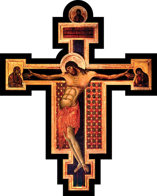 Byzantine Oversized Wall Plaque Crucifix
