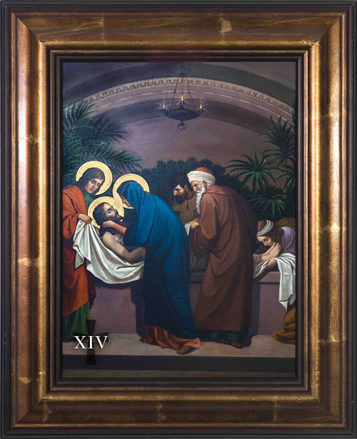 Emmerich Stations of the Cross in Large Bronze Frames (Set of 14)