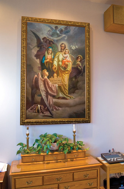 Joseph, Patron of the Church: Church-Sized Framed Canvas Art