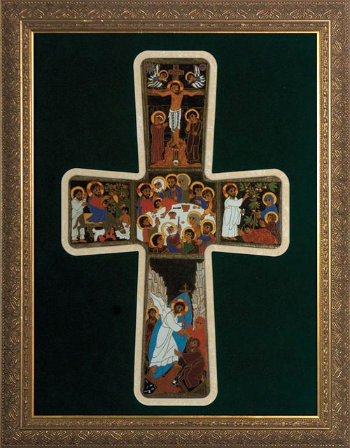Pentecost Cross Framed Art