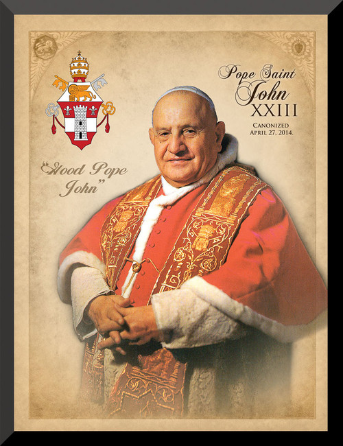 Pope John XXIII Saint Commemorative Wall Plaque