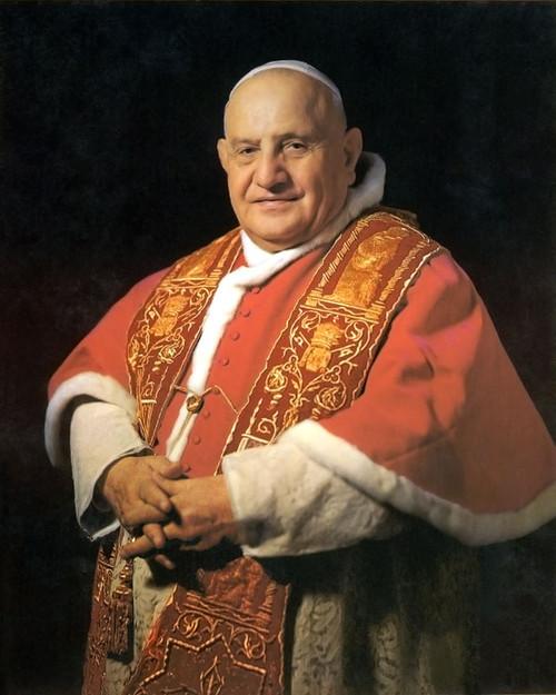 Pope John Xxiii Sainthood Framed Portrait Catholic To