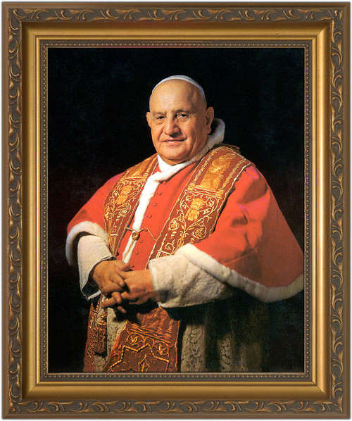 Pope John Xxiii Sainthood Framed Portrait Catholic To