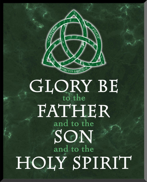 Trinity Glory Be Graphic Wall Plaque