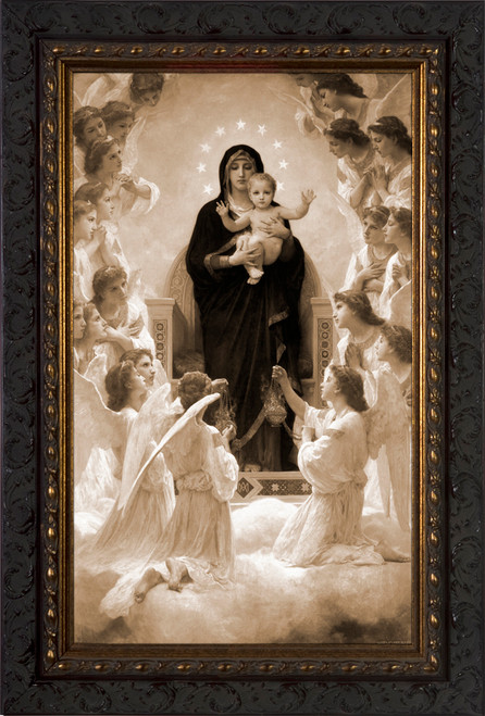 Queen Of The Angels Ornate Gold Framed Art Catholic To
