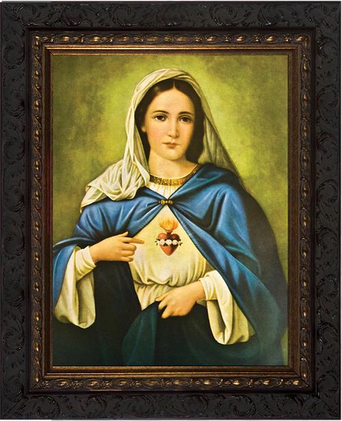 Immaculate Heart - Ornate Dark Framed Art