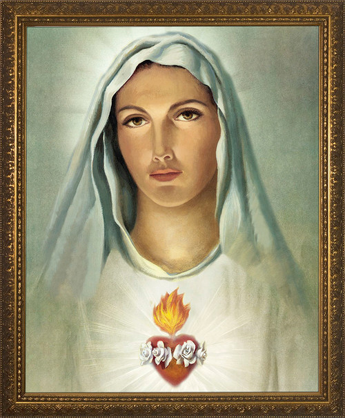 Traditional Immaculate Heart Framed Art