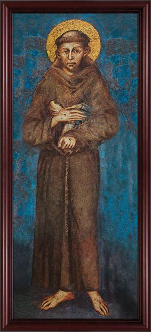 St. Francis - Cherry Framed Art