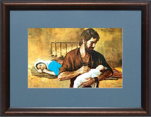 Holy Family Matted - Walnut Framed Art