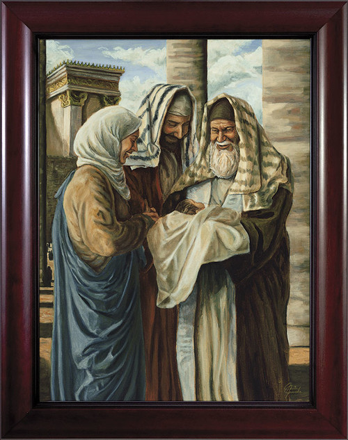 Presentation in the Temple by Jason Jenicke Cherry Framed Art